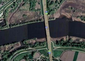 Satellitenansicht Autobahnbrücke Stillhorn